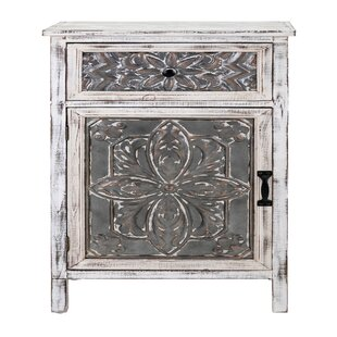 Compare prices Crewkerne Galvanized 1 Drawer Accent Chest ByWorld Menagerie