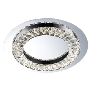 Orren Ellis Sowa 1-Light LED Flush Mount