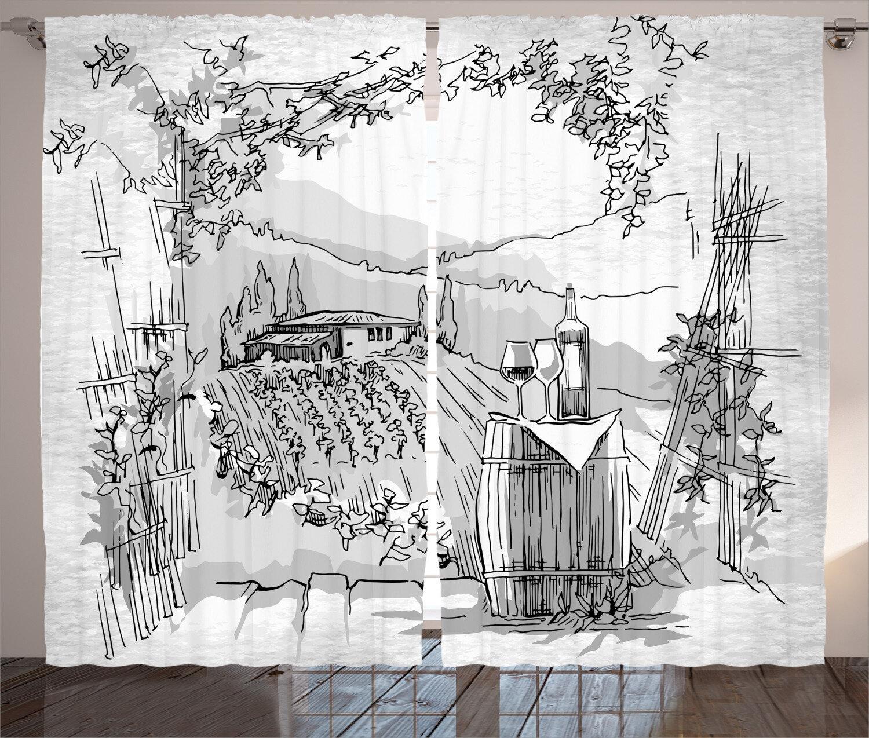 East Urban Home Sketchy Room Darkening Rod Pocket Curtain Panels Wayfair