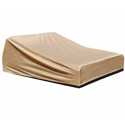 Freeport Park Aadhya Outdoor Chaise Lounge Cover Size: 30 H x 27 W x 80 D, Color: Tan, Material: Polyester