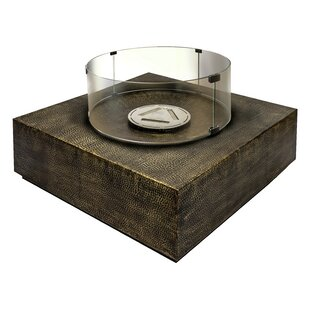 Ingot Inca Copper Bio-Ethanol Fuel Fire Pit Table