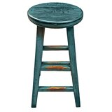 Arnone Solid Wood 26.8 Counter Stool by Gracie Oaks