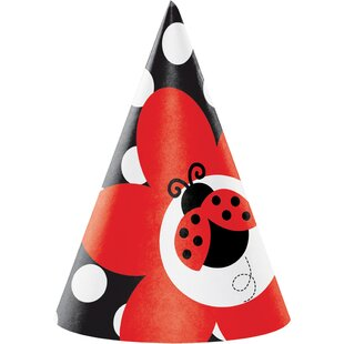 Ladybug Fancy Hat Paper Disposable Party Favor (Set Of 24) by Creative Converting Top Reviews