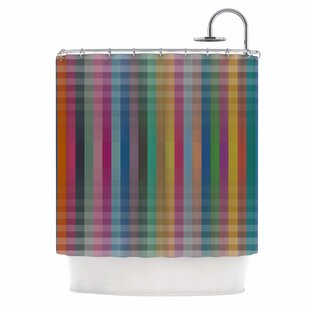 'Kolor V3' Digital Vector Single Shower Curtain