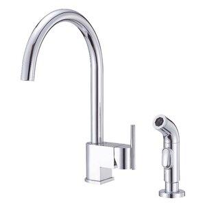 Danze? Como Single Handle Deck Mount Kitchen Faucet with Spray