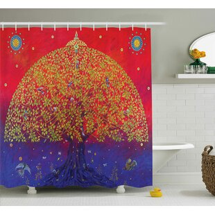Artemas Ethnic Eastern Decor Shower Curtain + Hooks