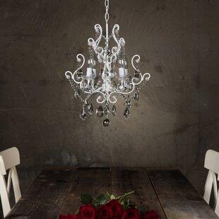 White milk glass chandelier wayfair alida 4 light glass crystal chandelier aloadofball Images