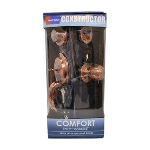 Comfort Single Cylinder Entrance Handleset by DSD Group