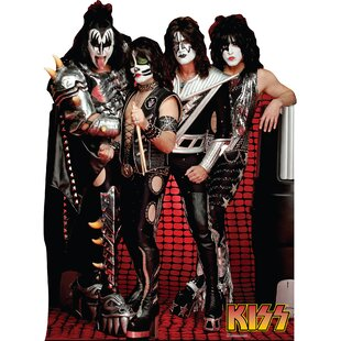 KISS Group Cardboard Standup By Advanced Graphics