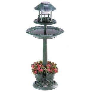 Zingz & Thingz Lighted Birdbath Plant Stand