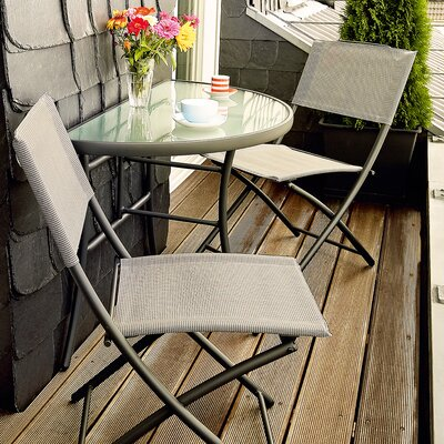 Watkins 3 Piece Bistro Set by Latitude Run Best #1