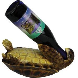 Sea Turtle 1 Bottle Tabletop Wine Bottle Rack by Rivers Edge