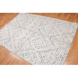 Low priced One-of-a-Kind Elyse Banana Transitional Hand-Knotted 5' x 8' Gray/Black Area Rug By Isabelline