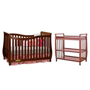 Read Reviews Linwood 4-in-1 Convertible Crib and Changer (Set of 2) ByHarriet Bee
