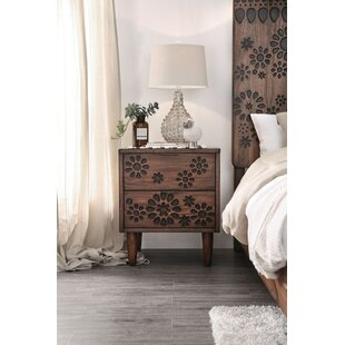 Bungalow Rose Sergei 2 Drawer Nightstand