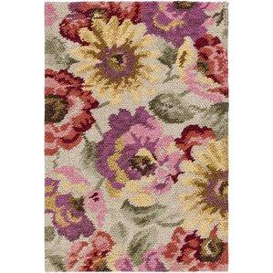 shondra cynthiana handknotted tan area rug