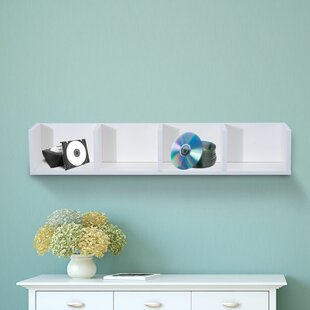 Modern Multimedia Wall Mounted Storage Rack By Rebrilliant