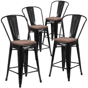 Marianne 24 Bar Stool (Set of 4) Williston Forge
