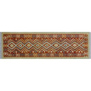 One-of-a-Kind Vallejo Kilim Hand-Woven Rust Area Rug