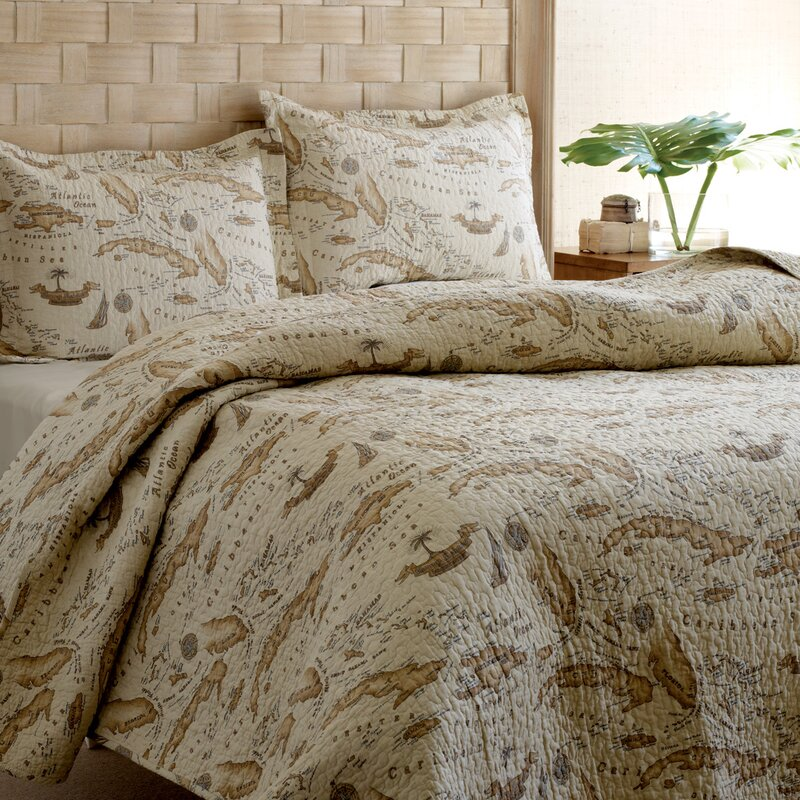 Tommy bahama home map 3 piece reversible quilt set by tommy bahama map 3 piece reversible quilt set by tommy bahama bedding gumiabroncs Gallery