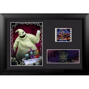 Nightmare Before Christmas Mini FilmCell Presentation Framed Vintage Advertisement