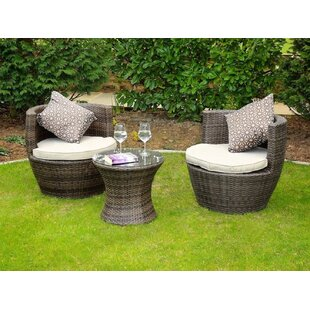 Kye 3 Piece Dining Set with Cushions (Set..