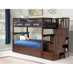 Abel Staircase Twin Over Twin Standard Bed with Trundle