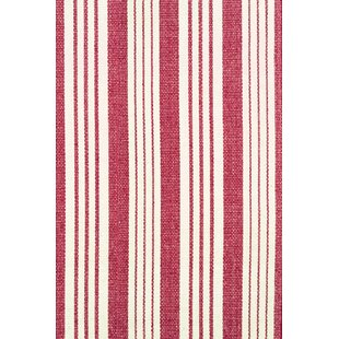 Birmingham Hand-Loomed Red/Beige Area Rug by Dash & Albert Europe
