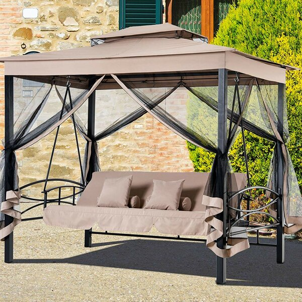 Outdoor Swing Bed With Canopy