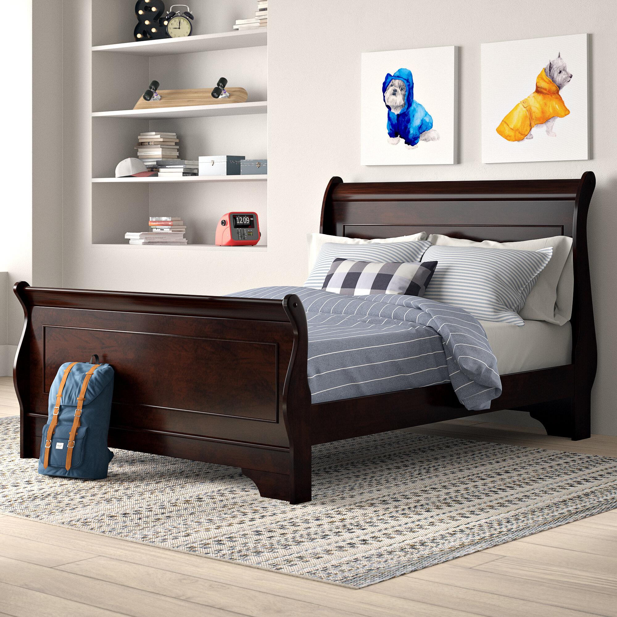 Alcott Hill Alivia Sleigh 4 Piece Configurable Bedroom Set Reviews Wayfair