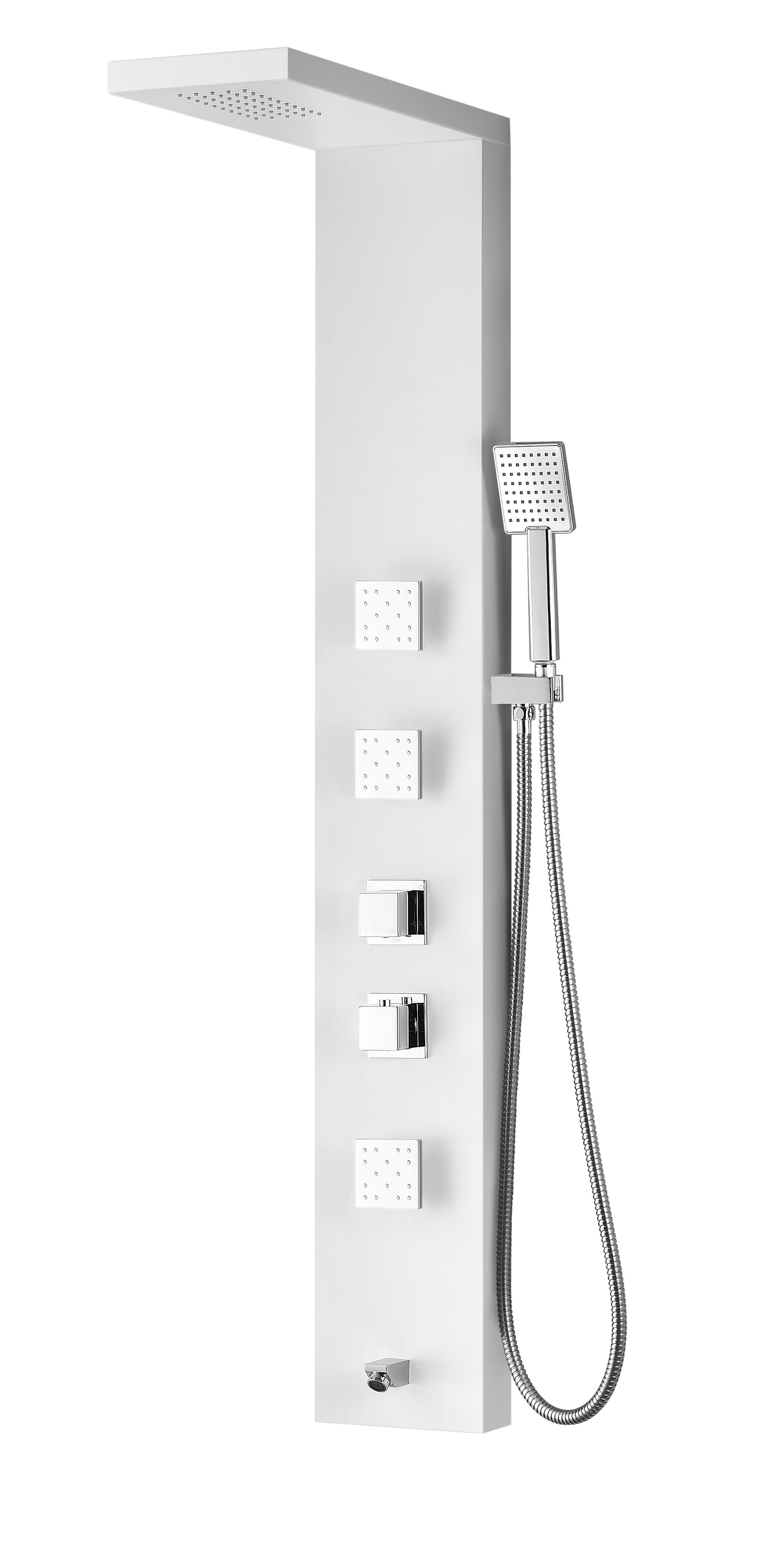 gpm panel showers tub standard with bathroom american commercial spout system shower
