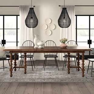 Titan Solid Wood Extendable Dining Table by Ophelia & Co.