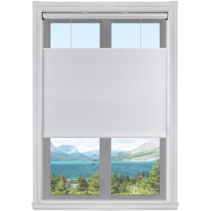 Top Down Bottom Up Semi Sheer White Cellular Shade