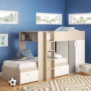 Dufault Twin Over Twin Bunk Bed With Mattress by Latitude Run Savings