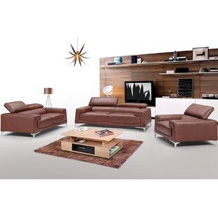 Canina 3 Piece Living Room Set by Orren Ellis