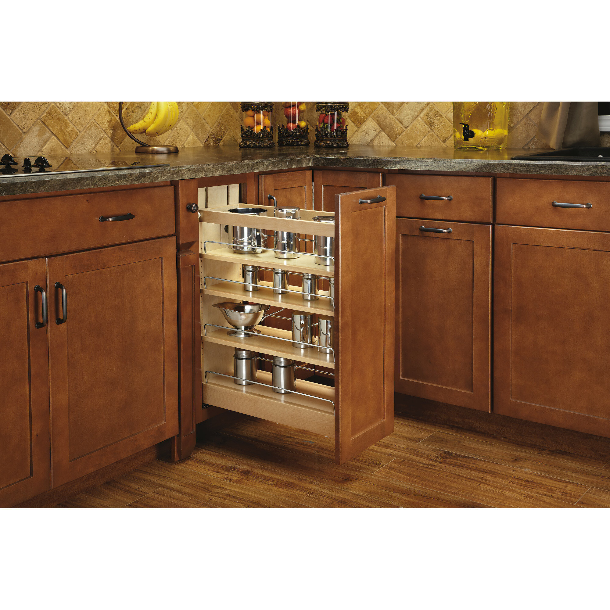 Picture of: Rev A Shelf Base Cabinet Organizer Soft Close Pull Out Pantry
