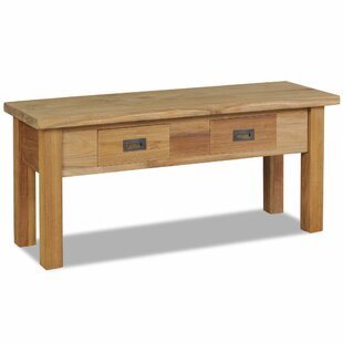 Dunham Wood Storage Bench By Gracie Oaks