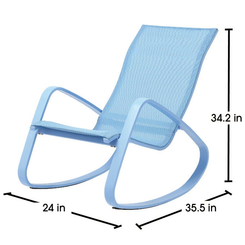 Bissett Metal Porch Deck Patio Rocking Chair  sc 1 st  Wayfair & Wrought Studio Bissett Metal Porch Deck Patio Rocking Chair | Wayfair