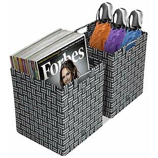 Savings Woven Storage Fabric Cube or Bin ByLatitude Run