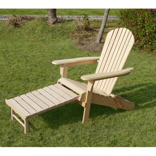 Wood Adirondack Chair with Ottoman