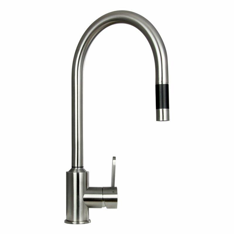 boann flor single handle pull-out kitchen faucet & reviews | wayfair