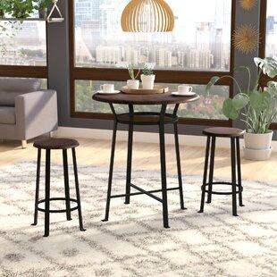 Ebern Designs Grandview 3 Piece Dining Set