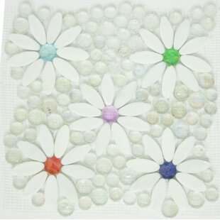 Signature Line Daisy Garden Glass Mosaic Tile in White