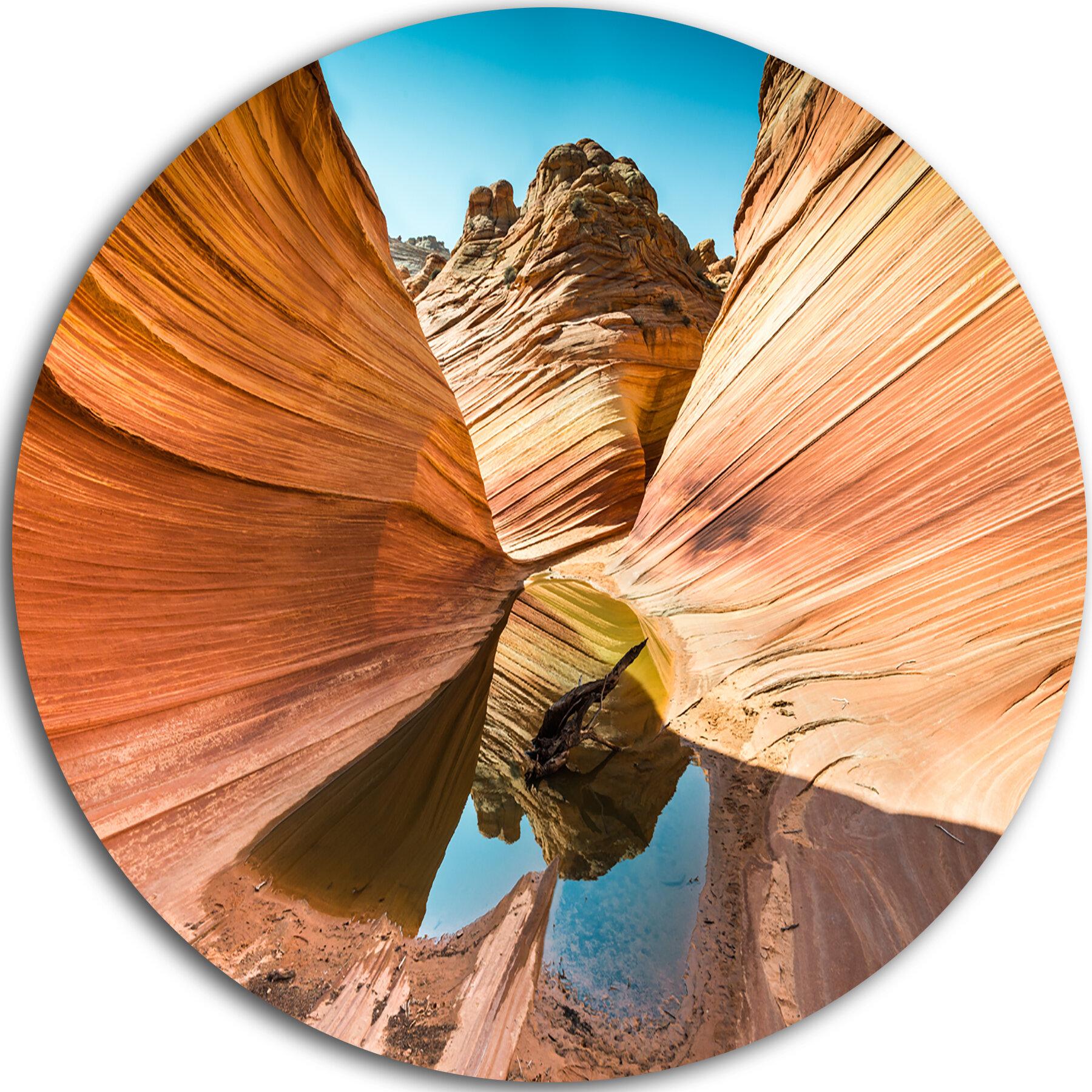 Designart Water Inside Arizona Wave Photographic Print On Metal Wayfair
