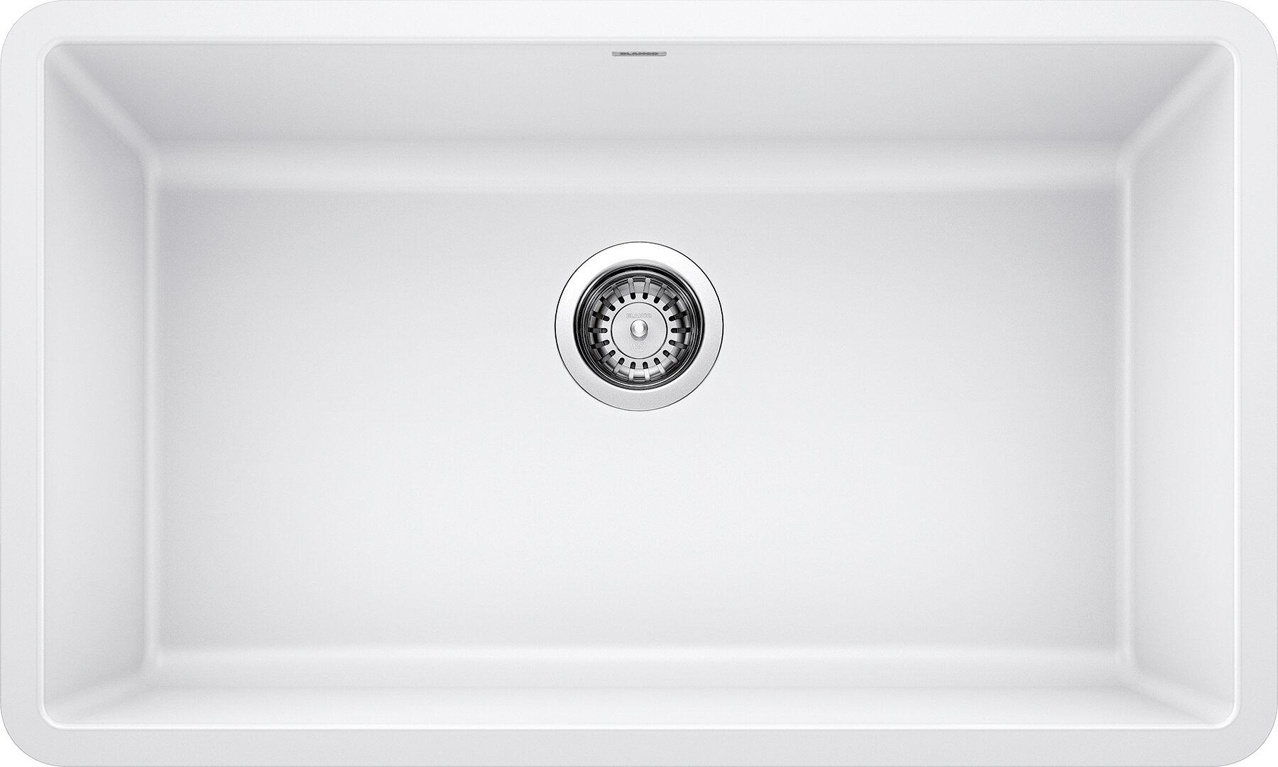 Blanco Precis Silgranit 32 L X 19 W Undermount Kitchen Sink Reviews