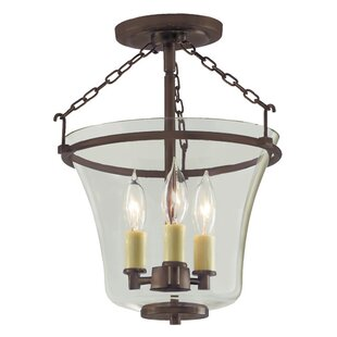 JVI Designs Greenwich 3-Light Semi Flush Mount