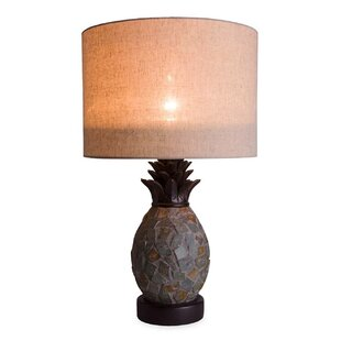 Indoor/Outdoor Slate Pineapple 26 Table Lamp