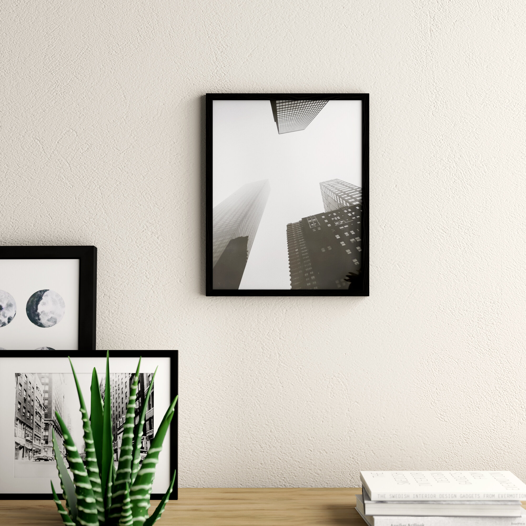 """MODERN 3/"""" FLAT LIMED SOLID OAK PHOTOGRAPH//PICTURE FRAME WITH PICTURE MOUNT"""