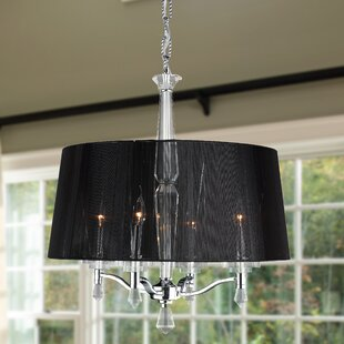 Rosdorf Park Roni 4-Light Shaded Chandelier