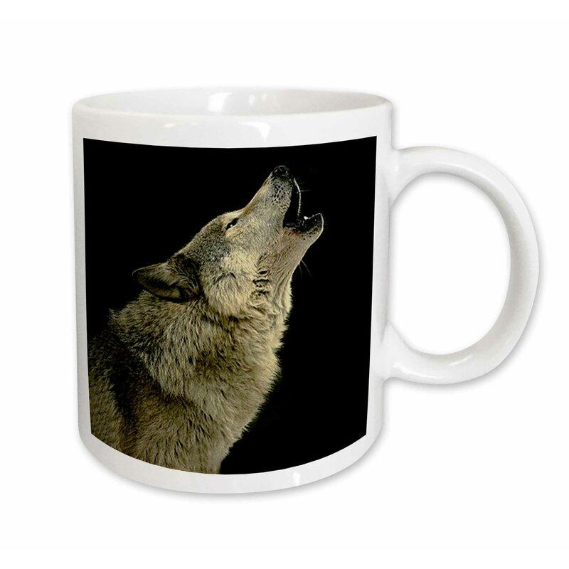 East Urban Home Timber Wolf Coffee Mug Wayfair